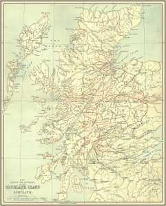 Scottish Highland Clan Map
