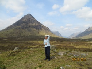 Peggy surveying the McKenney Kintail Highlands