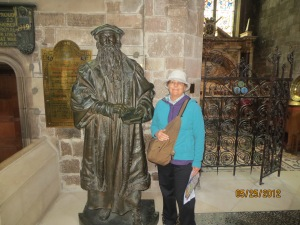Peggy and John Knox in his Edinburgh Church