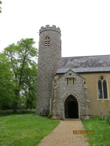 Gresham Parish Church today. The tower was there when Ralph arrived to take control.