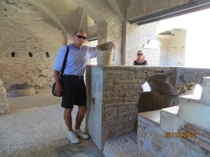In Ostia Antica, Dave knows where they hide the ice.