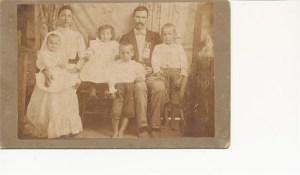 William and Emily with Lewis Keys, 2nd from Left