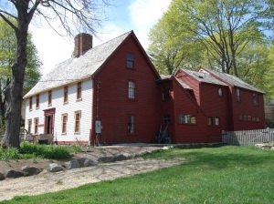 Reginald Foster house in Ipswich, Massachusetts in 2011. The original house in the front was started  in the 1640's.